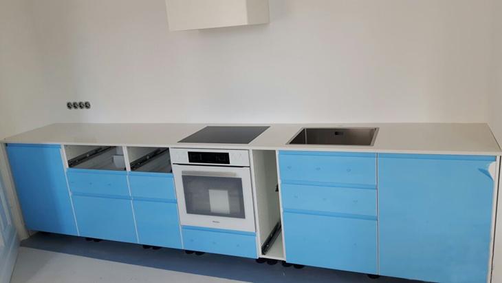 IKEA Küche mit Arbeitsplatten nach Maß: Granit - Quarzstein ...